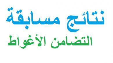 Photo of نتائج مسابقة التضامن ولاية الأغواط