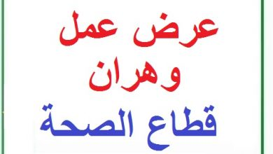 Photo of اعلان توظيف بالمؤسسة الاستشفائية وهران