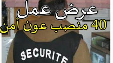 Photo of عرض عمل شركة الحراسة والمراقبة