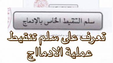 Photo of سلم تنقيط الخاص بالادماج