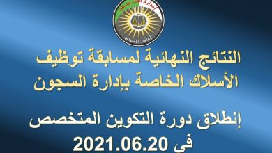 Photo of نتائج مسابقة ادارة سجون 2021